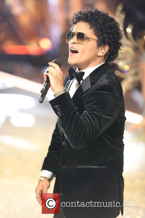 Bruno Mars at the Victoria's Secret Fashion Show