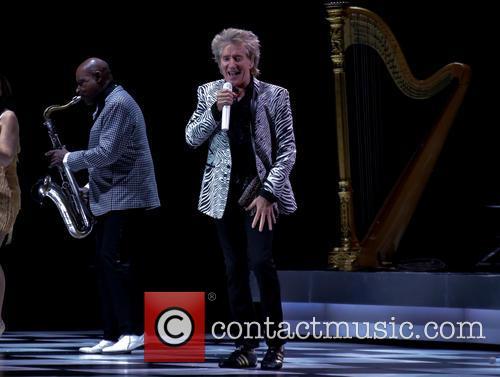 Rod Stewart performs live