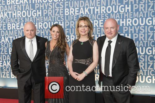 Gabrielle Giffords, Scott Kelly, Amiko Kauderer and Mark Kelly