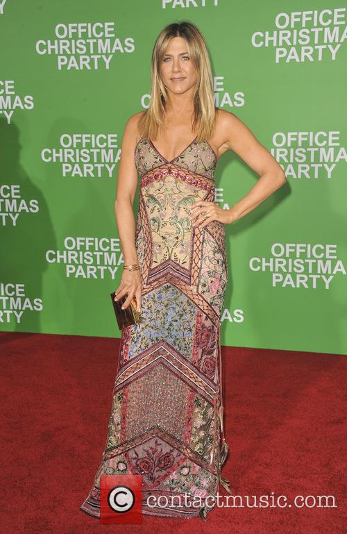 Jennifer Aniston at the Office Christmas Premiere in California