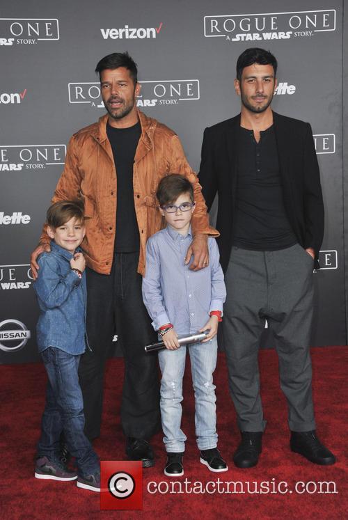 Ricky Martin, Matteo Martin, Valentino Martin and Jwan Yosef 1