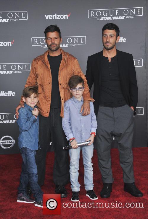 Ricky Martin, Matteo Martin, Valentino Martin and Jwan Yosef 2