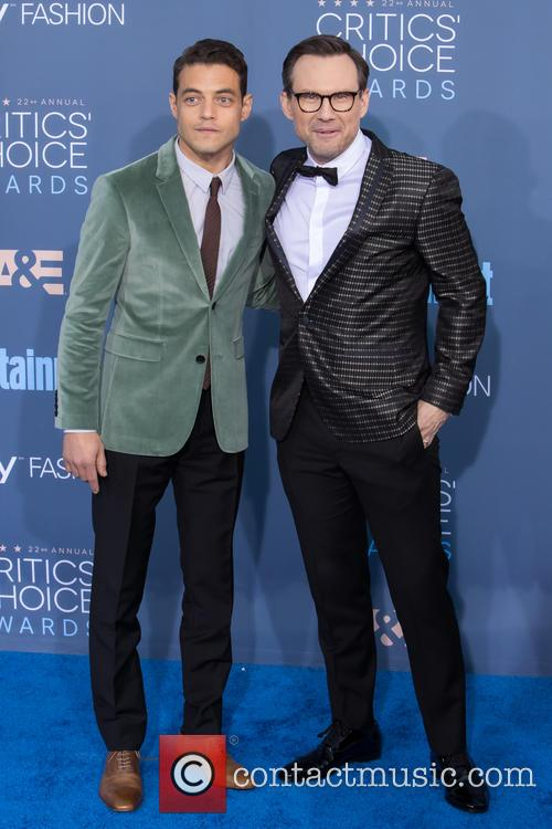 Rami Malek and Christian Slater 4