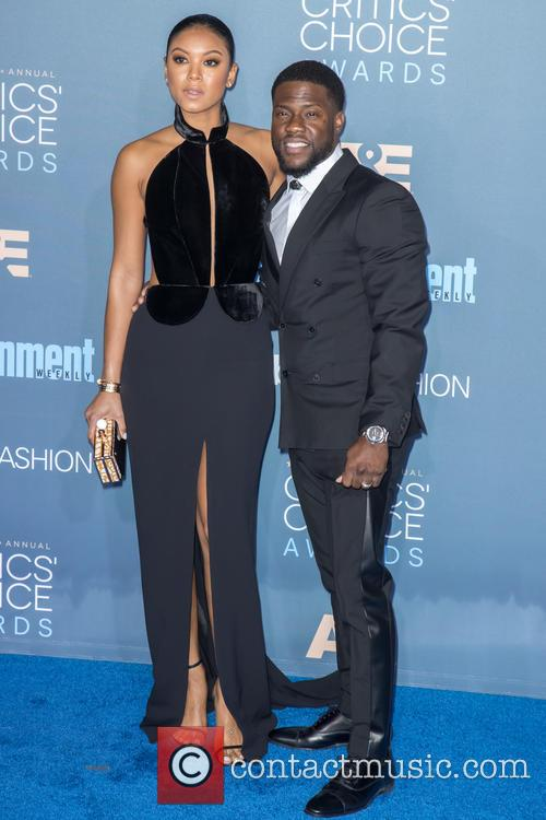 Eniko Parrish and Kevin Hart at the Critics Choice Awards