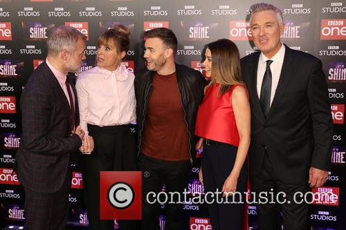 Graham Norton, Mel Giedroyc, Gary Barlow, Dannii Minogue and Martin Kemp 1