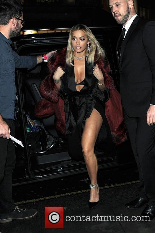 Rita Ora arrives at Tenezis Oxford Circus