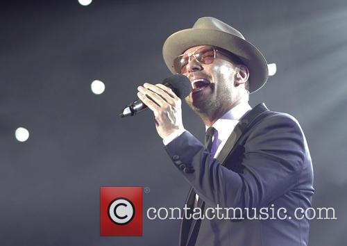 Matt Goss performing at Manchester Ritz