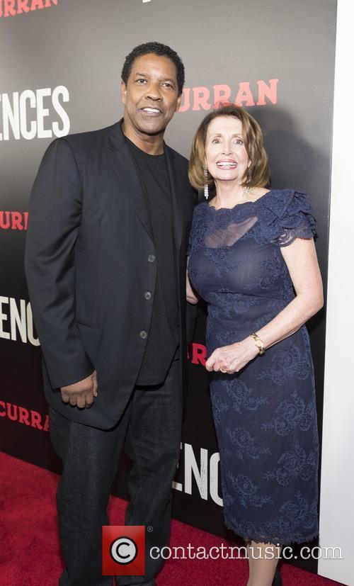 Denzel Washington and Nancy Pelosi 1
