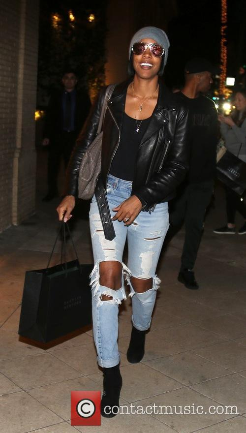 Kelly Rowland out Christmas shopping with a friend...
