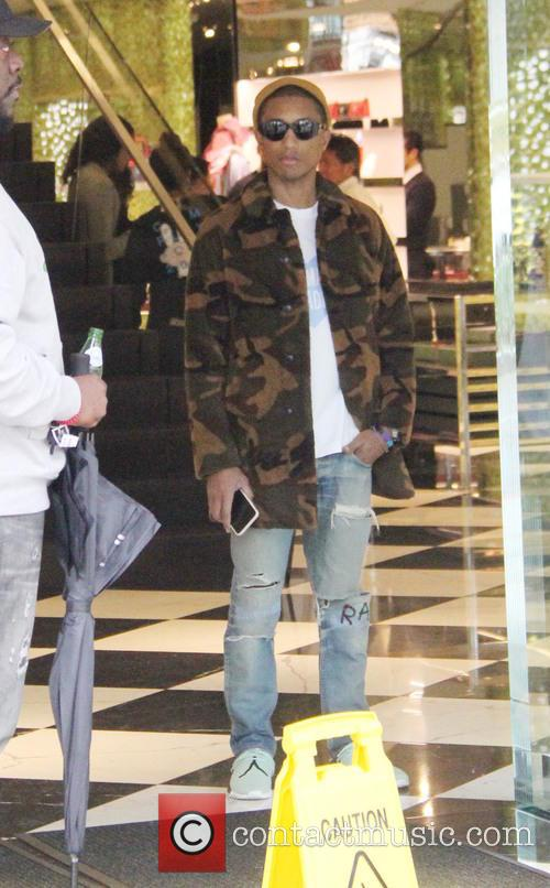 Pharrell Williams out shopping in Beverly Hills
