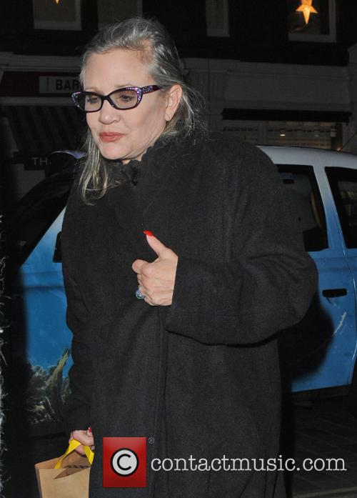 Carrie Fisher spotted outside Chiltern Firehouse