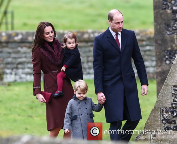 The Duke and Duchess of Cambridge with their children George and Charlotte