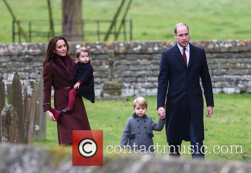 Prince William, Duke Of Cambridge, Prince George, Catherine Duchess Of Cambridge, Kate Middleton and Princess Charlotte 1