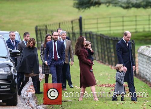 Prince William, Duke Of Cambridge, Catherine Duchess Of Cambridge, Prince George, Princess Charlotte, Kate Middleton, Pippa Middleton, James Middleton, Michael Middleton, Carole Middleton and James Matthews 5