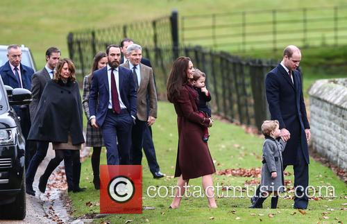 Prince William, Duke Of Cambridge, Catherine Duchess Of Cambridge, Prince George, Princess Charlotte, Kate Middleton, Pippa Middleton, James Middleton, Michael Middleton, Carole Middleton and James Matthews 6