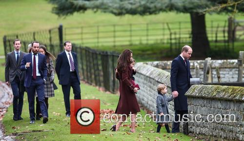 Duke Of Cambridge, Prince William, Catherine Duchess Of Cambridge, Prince George, Princess Charlotte, Kate Middleton, Pippa Middleton, James Middleton, Michael Middleton, Carole Middleton and James Matthews 2
