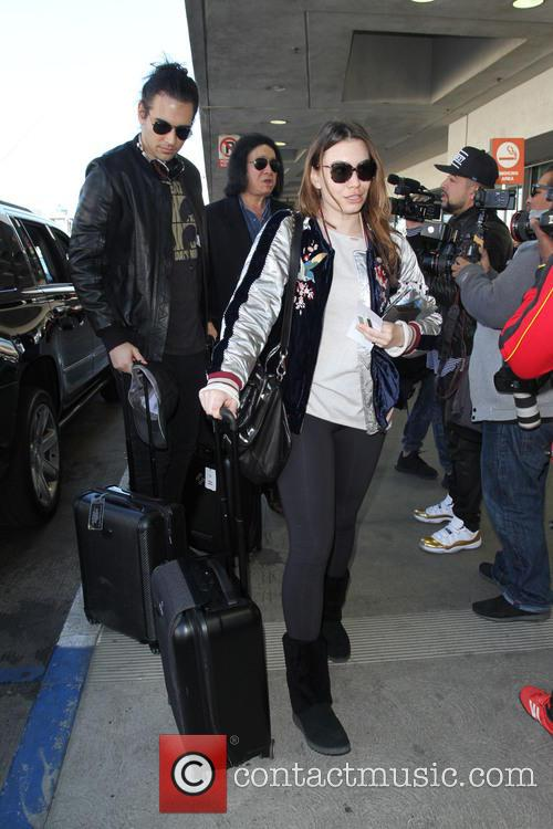 Gene Simmons, Nick Simmons and Sophie Simmons 2