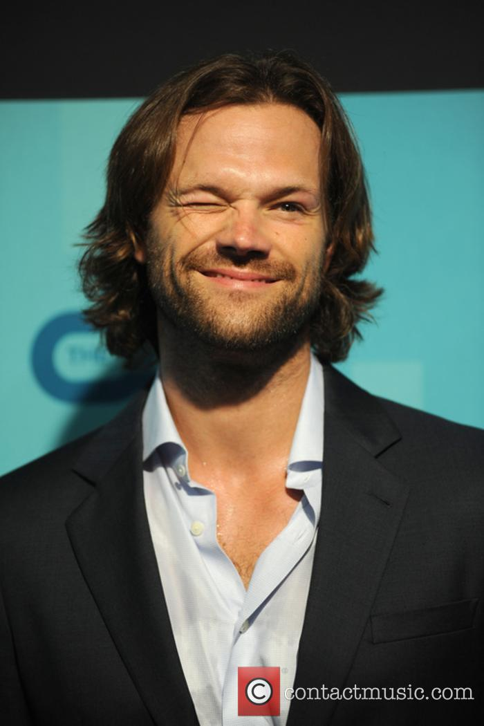 Leading 'Supernatural' star Jared Padalecki gives a cheeky wink