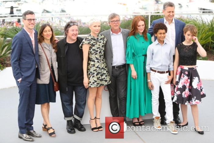 Brian Selznick, Pamela Koffler, Christine Vachon, Michelle Williams, Todd Haynes, Julianne Moore, Jaden Michael, John Sloss and Millicent Simmonds