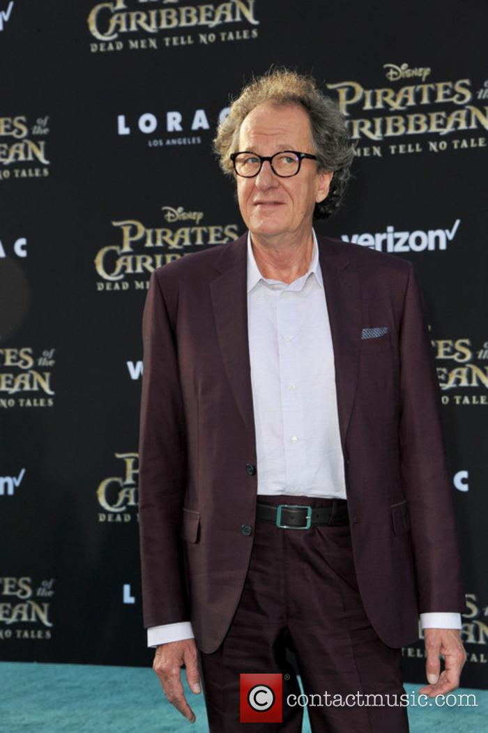 Geoffrey Rush at 'Pirates of the Caribbean' premiere