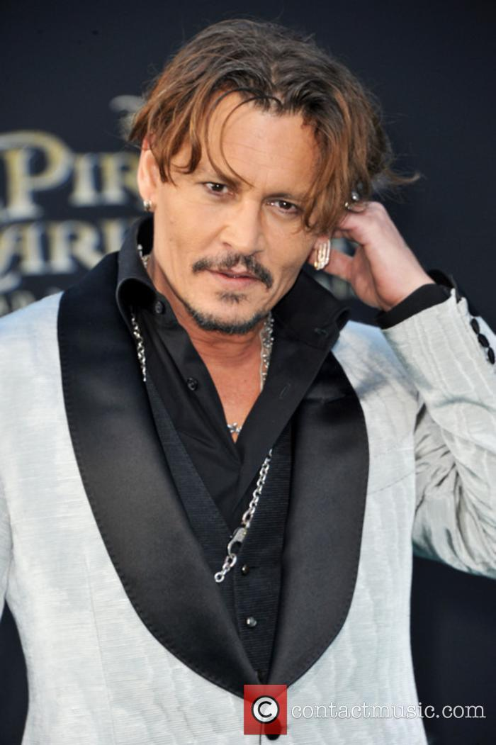 Johnny Depp at 'Pirates of the Caribbean' premiere