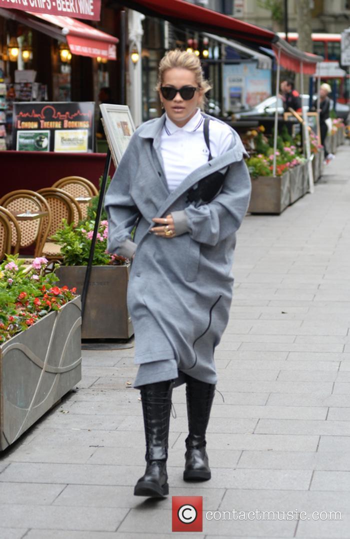 Rita Ora arrives at Global House