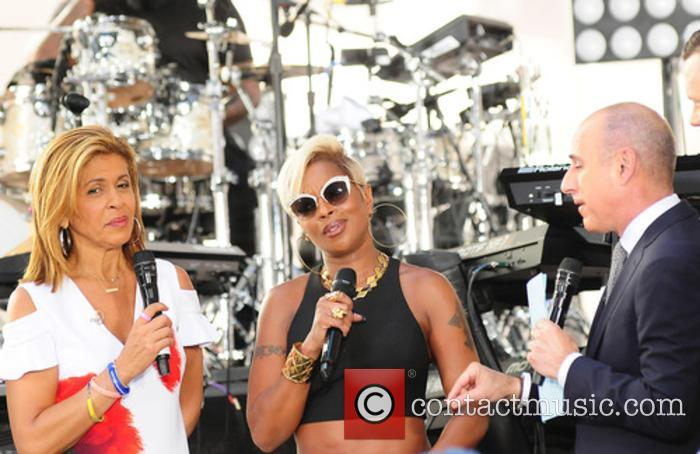 Hoda Kotb, Mary J. Blige and Matt Lauer