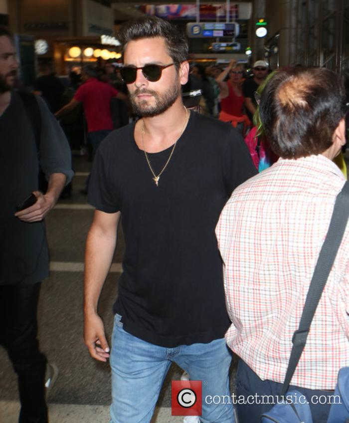 Scott Disick arriving at LAX