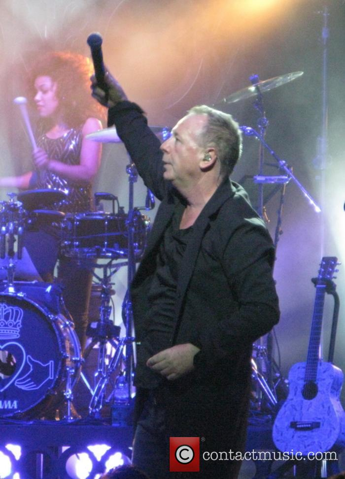 Simple Minds performing at the London Palladium