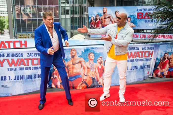 David Hasselhoff and Dwayne Johnson 1