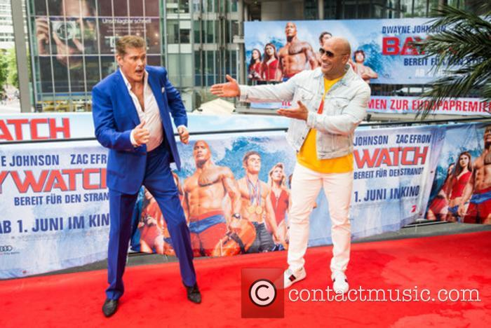 David Hasselhoff and Dwayne Johnson 2
