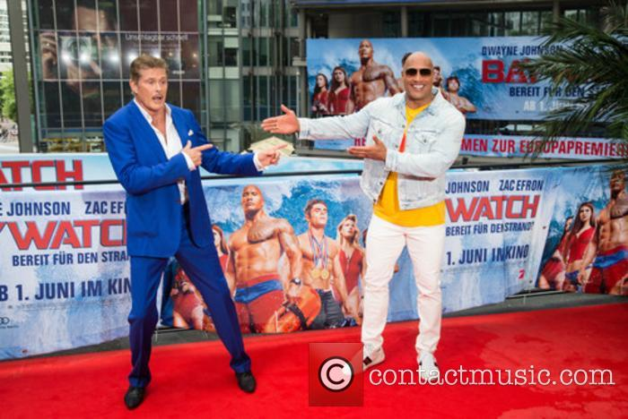 David Hasselhoff and Dwayne Johnson 3