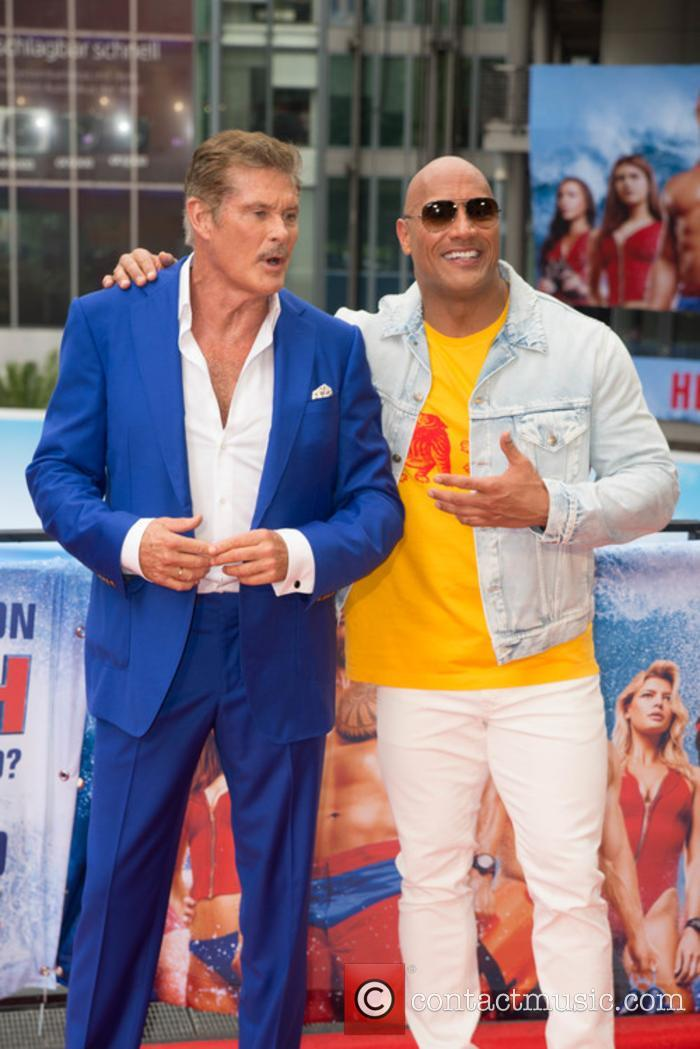 David Hasselhoff and Dwayne Johnson 4