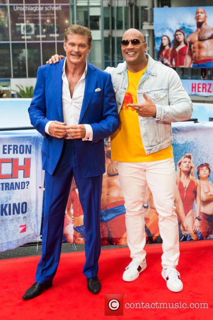 David Hasselhoff and Dwayne Johnson 5