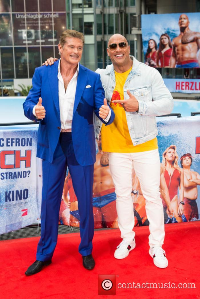 David Hasselhoff and Dwayne Johnson 6