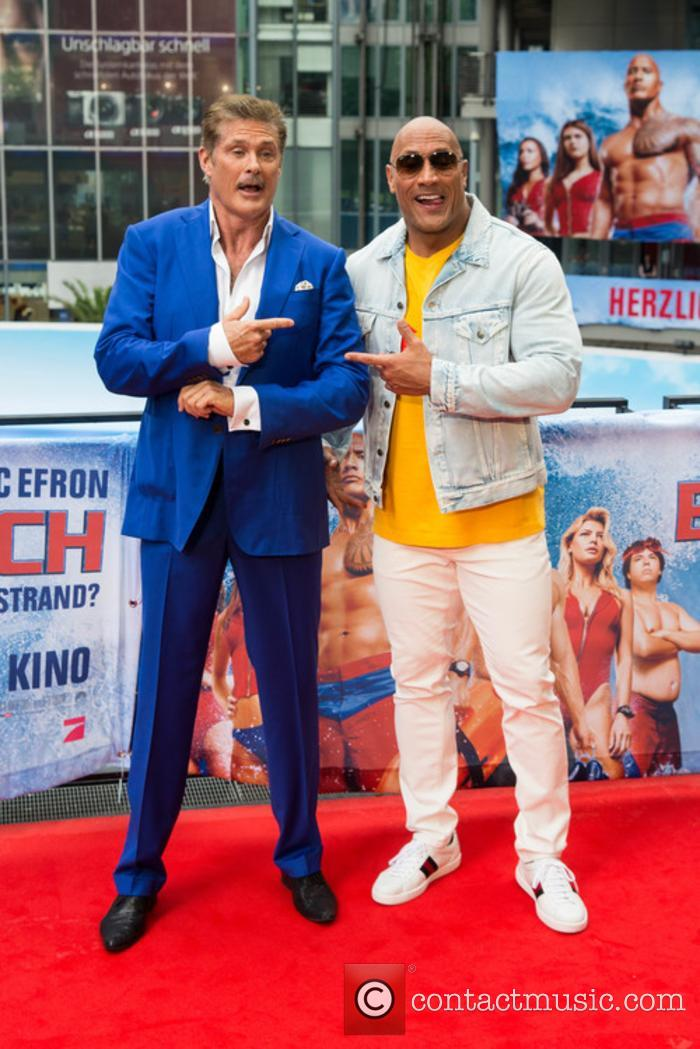 David Hasselhoff and Dwayne Johnson 8