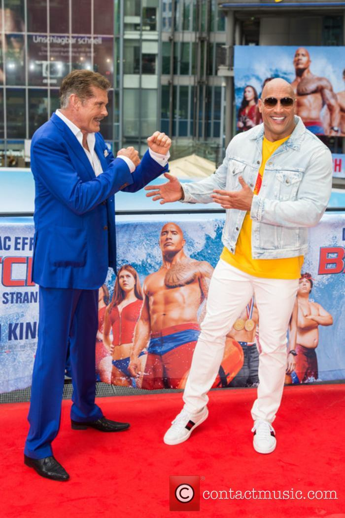 David Hasselhoff and Dwayne Johnson 9