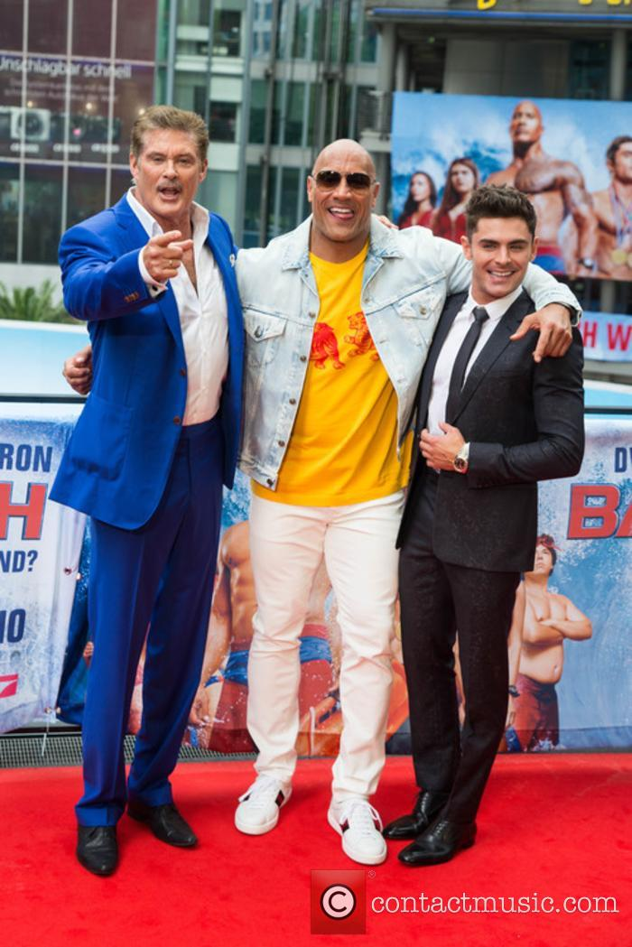 David Hasselhoff, Dwayne Johnson and Zac Efron 10