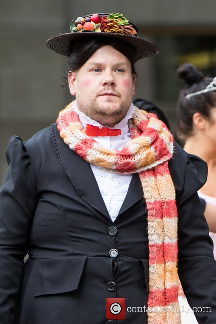 James Corden dresses up as Mary Poppins