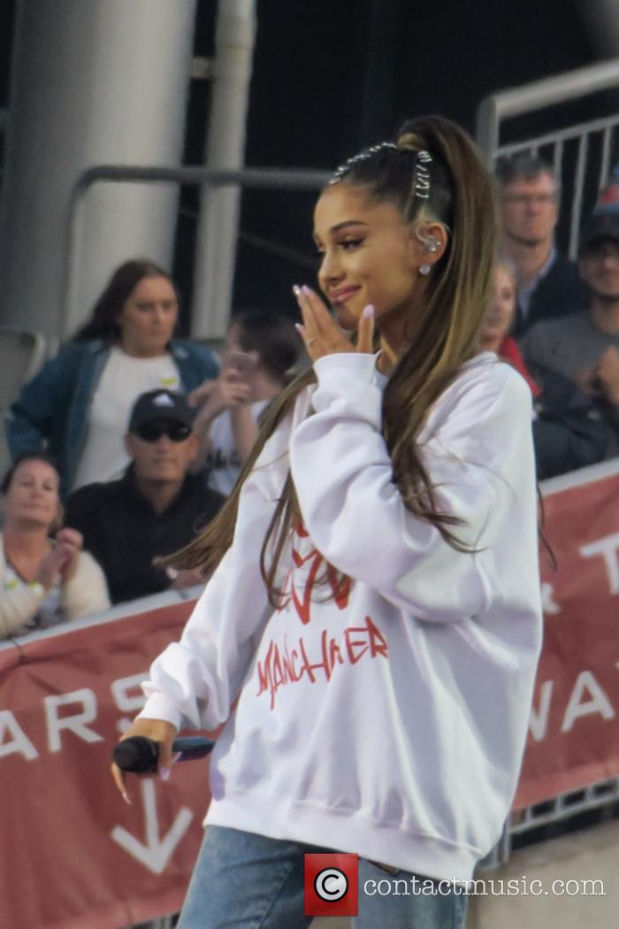 Ariana Grande at the One Love Manchester benefit concert