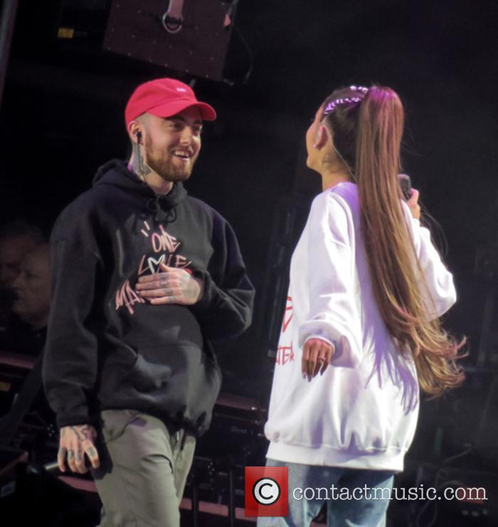 Ariana Grande and Mac Miller at the One Love Manchester concert