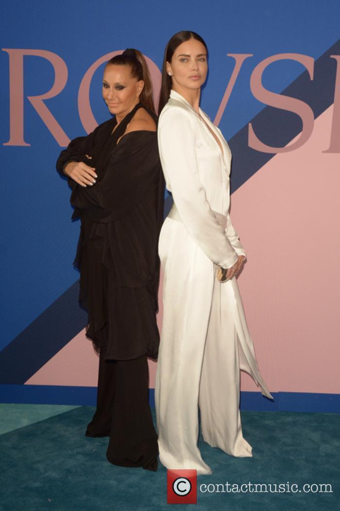 Donna Karan and Adriana Lima