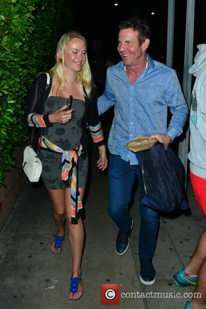 Dennis Quaid out for dinner with his girlfriend