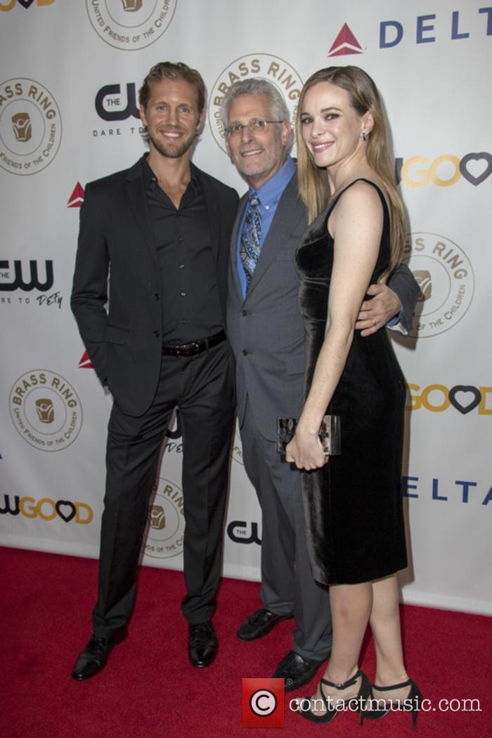 Mark Pedowitz (centre) serves as boss at US network The CW