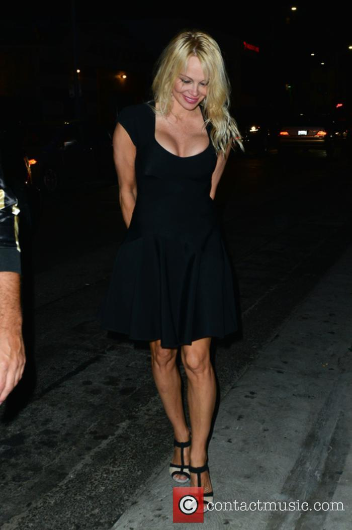 Pamela Anderson Out Partying At Avenue Night Club...