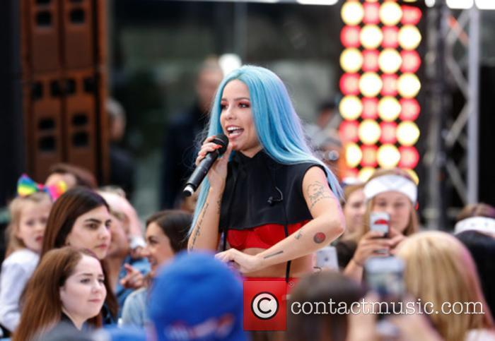 Halsey performing live on the NBC's 'Today' show