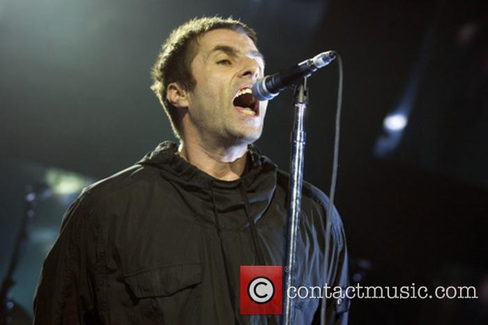 Liam Gallagher performing live in Glasgow