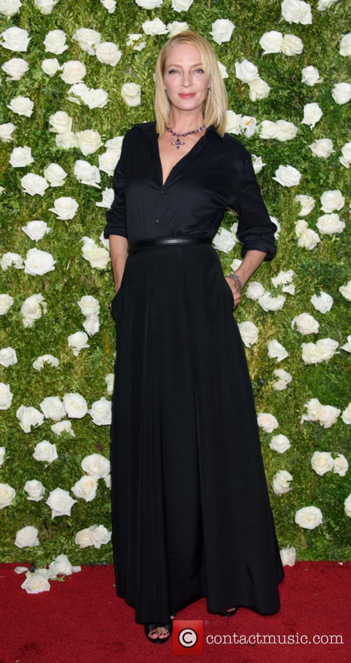 Uma Thurman at the Tony Awards