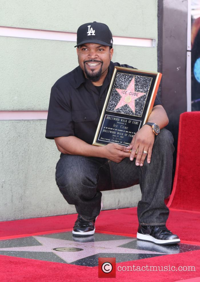Ice Cube with his Hollywood Star
