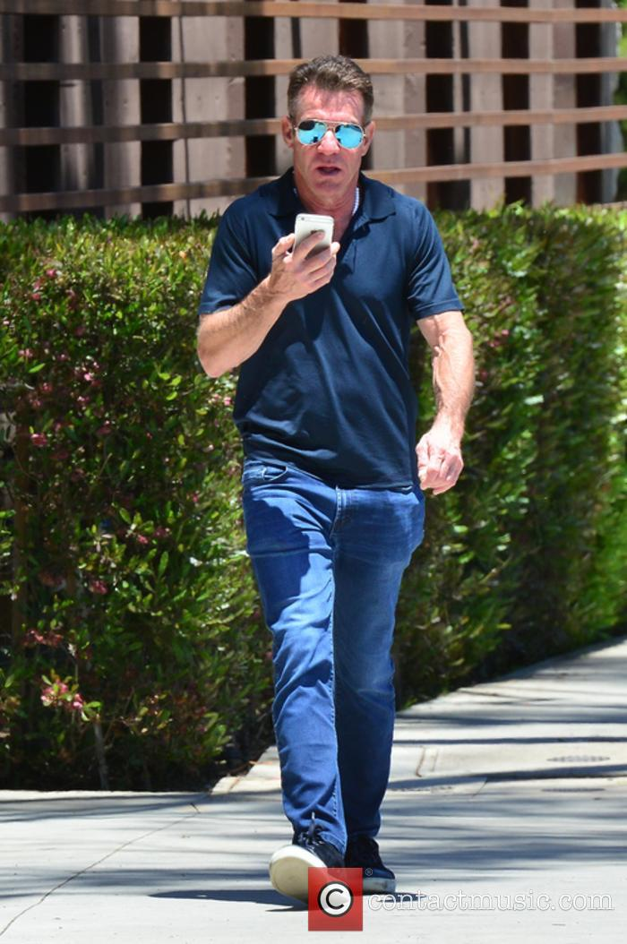 Dennis Quaid Out And About In Aviator Sunglasses...